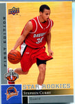 Stephen Curry 2009-10 Upper Deck First Edition Unsigned Rookie Card