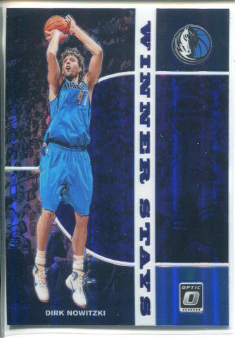 Dirk Nowitzki 2019-20 Panini Donruss Optic Prizm Winner Stays Card