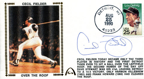 Cecil Fielder Autographed Aug 25 1990 First Day Cover