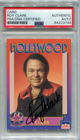 Roy Clark Autographed 1991 Starline Hollywood Walk of Fame Card (PSA)