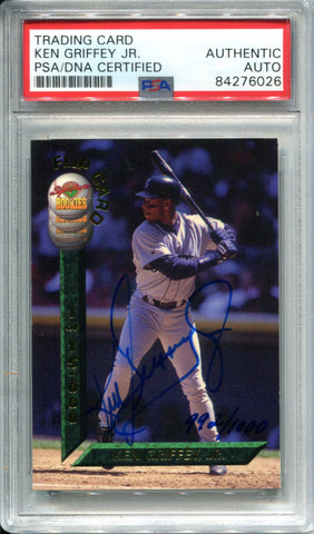 Ken Griffey Jr. Autographed 1994 Draft Picks Flip Card (PSA)