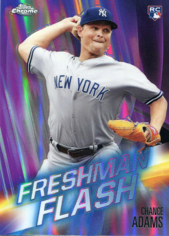 Chance Adams 2019 Topps Chrome Freshman Flash Rookie Card