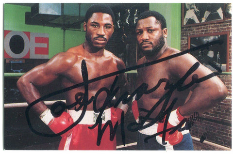 Joe & Marvis Frazier Autographed Golden Gloves Business Card