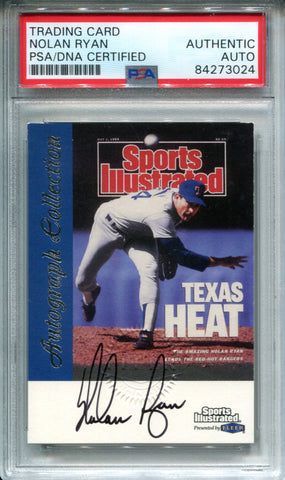 Nolan Ryan Autographed 1999 FLeer Sports Illustrated Card (PSA)
