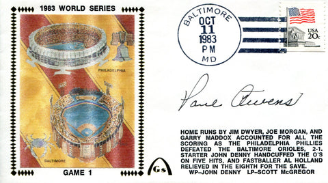 Paul Owens Autographed Oct 11 1983 First Day Cover