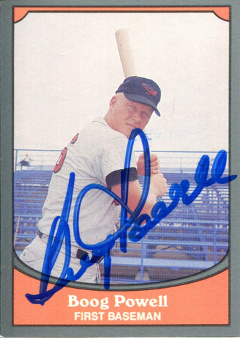 Boog Powell Autographed 1990 Pacific Card