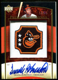Frank Robinson 2007 Autographed Card & Patch #13/25