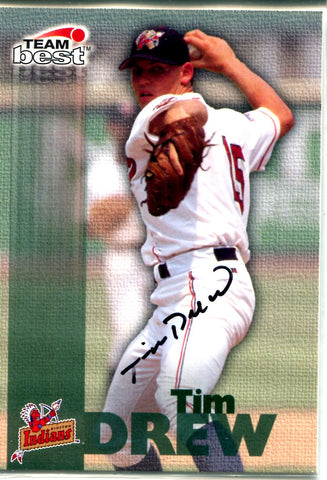 Tim Drew 1999 Team Best Autographed Card
