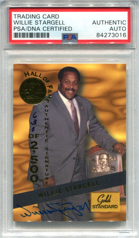 Willie Stargell Autographed 1994 Signature Series Gold Standard Card (PSA)