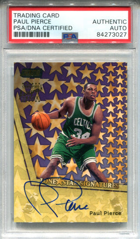Paul Pierce Autographed 1999 Topps Stadium Club Card (PSA)