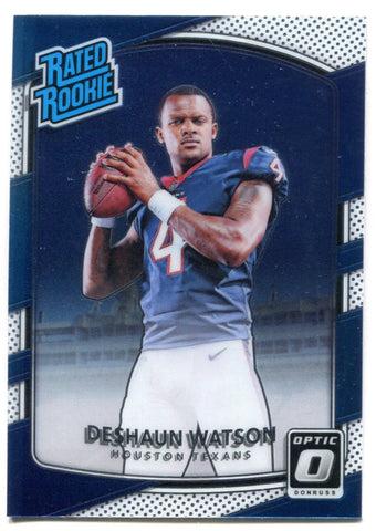Deshaun Watson 2017 Panini Donurss Optic Rated Rookie Card