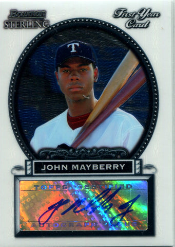 John Mayberry 2005 Bowman Sterling Autographed Rookie Card