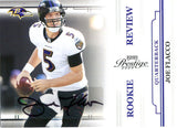 Joe Flacco Autographed 2008 Playoff Prestige Rookie Card