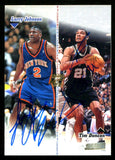 Larry Johnson & Tim Duncan 1998 Stadium Club Multi Autographed Card