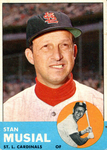 Stan Musial 1963 Topps Card