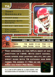 Tony Gonzalez 2000 Topps Certified Autograph Issue