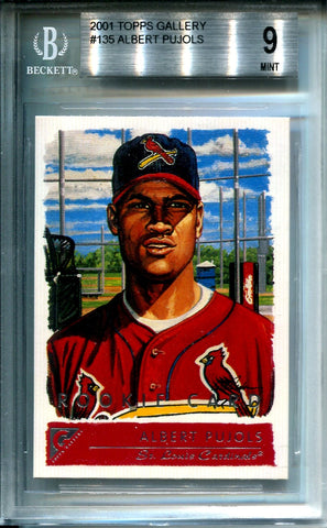 Albert Pujols 2001 Topps Gallery Unsigned Rookie Card (Beckett)