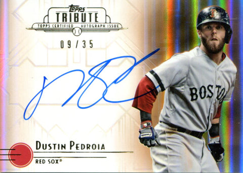 Dustin Pedroia Autographed Topps Card #9/35