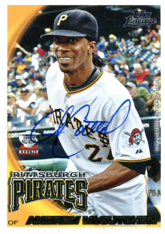 Andrew McCutchen Autographed Topps Rookie Card