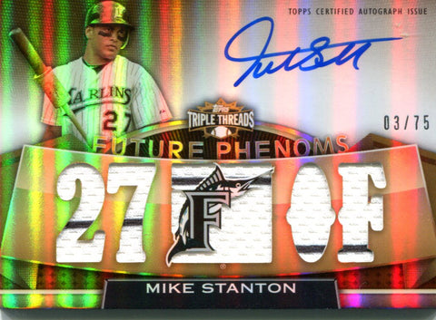 Mike Stanton Autographed Topps Card #3/75