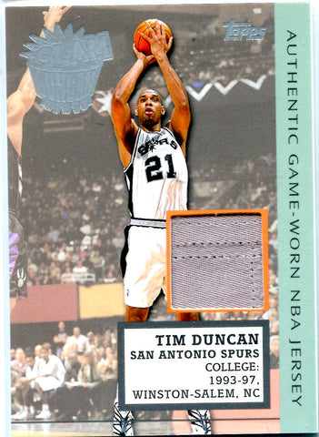 Tim Duncan 2002 Topps Game-Worn Jersey Card