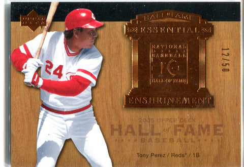 Tony Perez 2005 Upper Deck Hall of Fame Enshrinement Unsigned Card #12/50