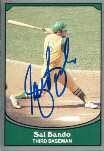 Sal Bando Autographed 1990 Pacific Card #4