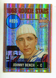 Johnny Bench Topps 2001 1968 Reds Rookie Stars Autographed Card #247