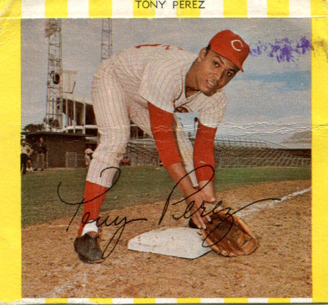 Tony Perez 1969 Kahn Card