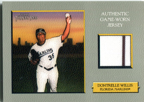 Dontrelle Willis 2006 Topps Turkey Red Authentic Game-Worn Jersey Unsigned Card