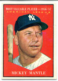 Mickey Mantle 1961 Topps Card #475