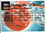 Shaquille O'Neal 1992-93 Topps Stadium Club Rookie Card #201