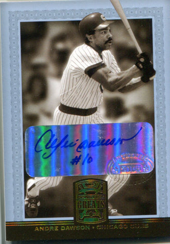 Andre Dawson 2005 Donruss Greats Autographed Card
