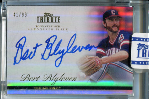 Bert Blyleven 2012 Topps Tribute Certified Sealed Autographed Card #41/99