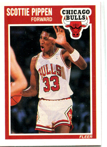 Scottie Pippen 1989 Fleer Unsigned Card