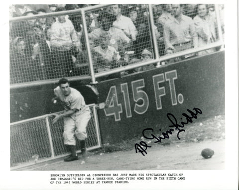 Al Gionfriddo Autographed 8x10 Photo