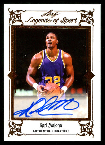 Karl Malone 2012 Leaf Legends of Sport Autographed Card