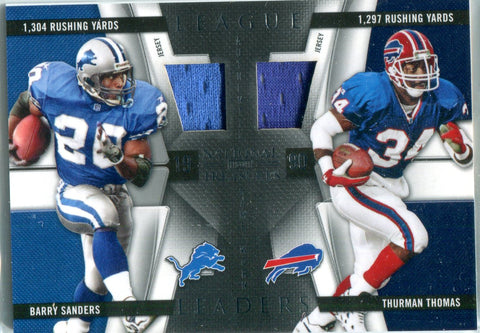 Barry Sanders & Thurman Thomas 2009 National Treasures Dual Patch Card #56/99