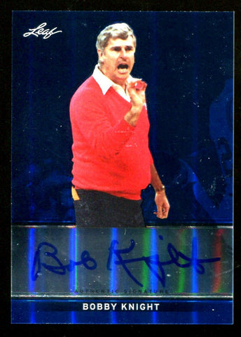 Bobby Knight 2013 Leaf Autographed Card