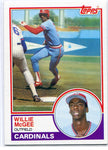Willie McGee 1983 Topps Rookie Card