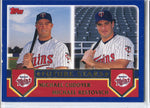 Michael Cuddyer & Michael Restovich 2002 Topps Rookie Card