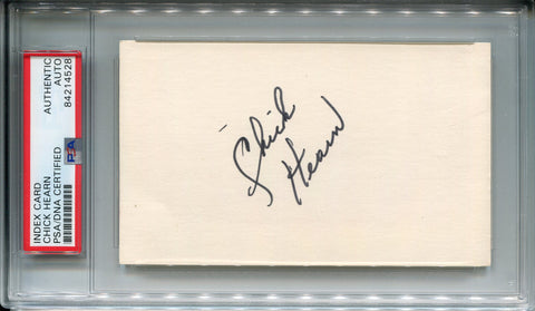 Chick Hearn Autographed 3x5 Index Card (PSA)