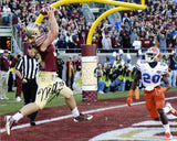 Nick O'Leary Autographed Touchdown vs Gators 8x10 Photo