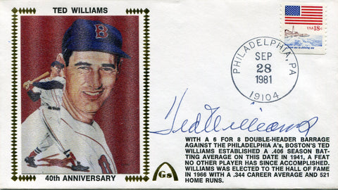 Ted Williams Autographed Gateway First Day Cover Envelope (JSA)