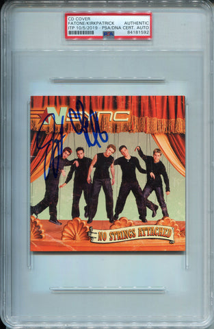 Joey Fatone & Chris Kirkpatrick Autographed Nsync No Strings Attached CD Cover (PSA)