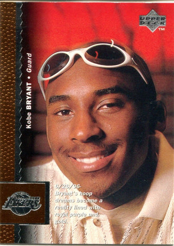 Kobe Bryant 1996 Upper Deck Unsigned Rookie Card