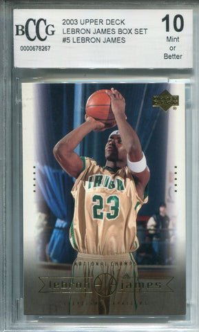 Lebron James 2003 Upper Deck #5 (BCCG) Graded 10 Mint