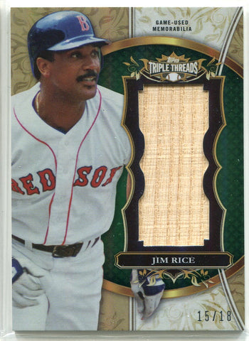 Jim Rice 2013 Topps Triple Threads Bat Card