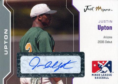 Justin Upton Autographed 2006 Just Minors Card