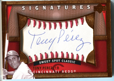 Tony Perez 2005 Upper Deck Signatures Sweet pot Classic Autographed Card